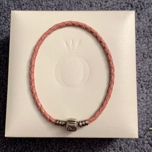 Pandora Pink Leather band